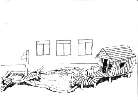 Fischerhütte mit kleinem Boot